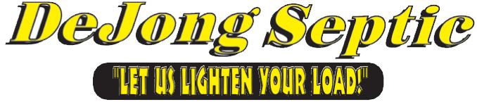 DeJong Septic Logo - Let Us Lighten Your Load!